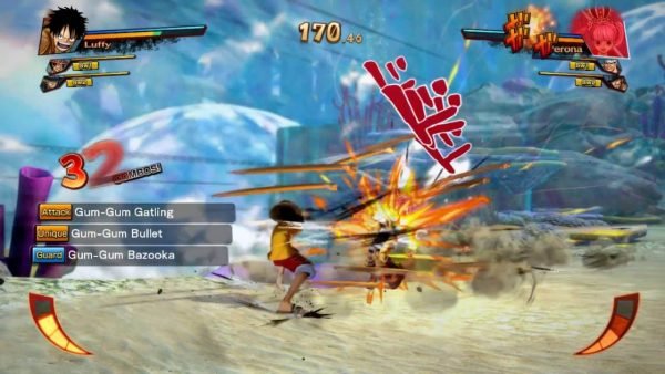 one piece burning blood highly compressed